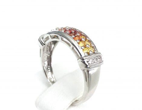 multi color sapphire ring