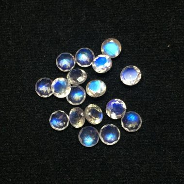 rainbow moonstone round cut 5mm