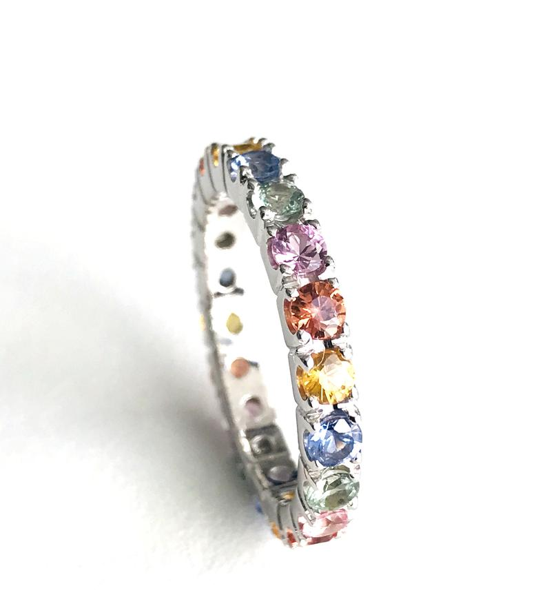 925 silver eternity band ring for women